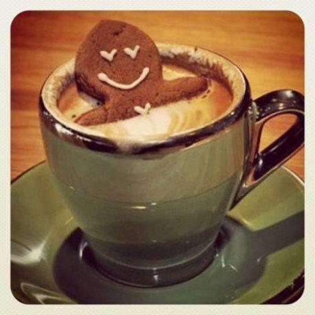gingerbread man coffee