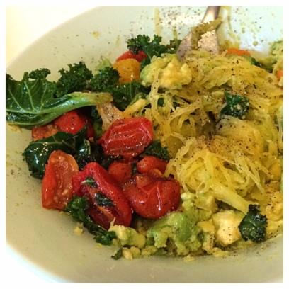 spaghetti squash dish